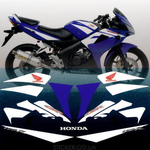 Набор виниловых наклеек на мотоцикл HONDA CBR 125R 2007