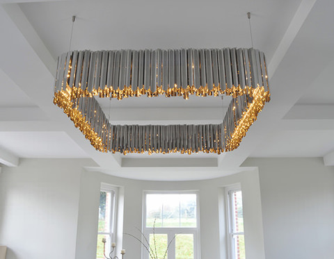 chandelier replica Facet Square by Tom Kirk