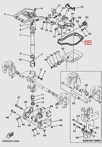 Уплотнитель для лодочного мотора Т30 Sea-PRO (15-25)
