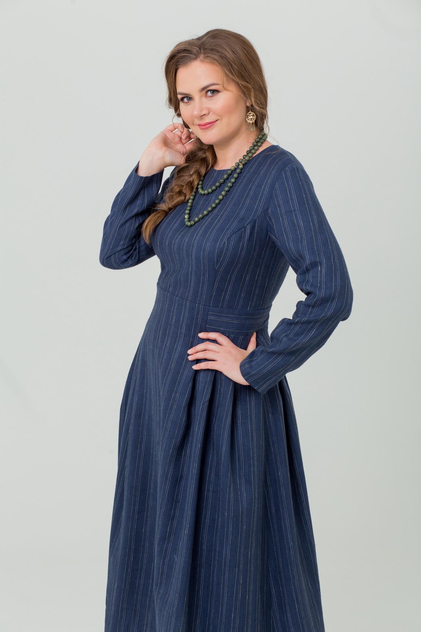 Платье льняное на зиму от Иванки Черника