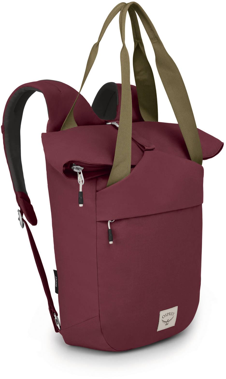 Городские рюкзаки Рюкзак сумка Osprey Arcane Tote Mud Red Arcane_Tote_Pack_S20_Side_Mud_Red_web.jpg