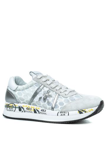 Комбинированные кроссовки Premiata Conny 4618 на шнуровке