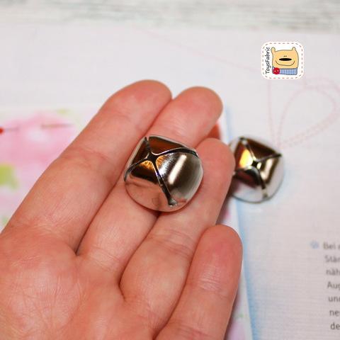 Бубенчик металлический серебряный 20мм СБ7-20(С)