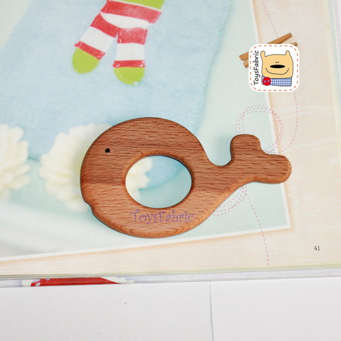 Грызунок деревянный (бук) 11х6,5см Кит ГР17