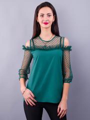 Жанна. Весенняя молодежная блуза. Изумруд