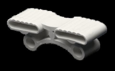 Латодержатель амортизирующий, двойной 38 мм., белый, открытая установка (ш)
