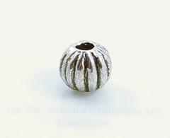 Бусина металлическая - шарик
