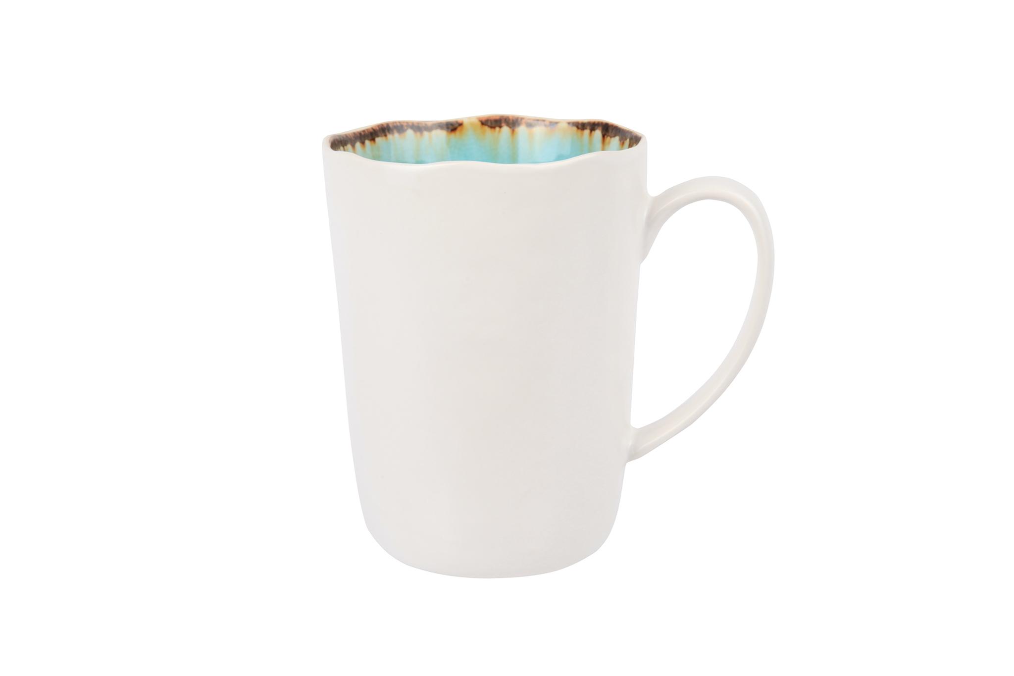 Кружка 8х11 см COSY&amp;TRENDY Laguna azzuro 3358587Кружки и чашки<br>Кружка 8х11 см COSY&amp;TRENDY Laguna azzuro 3358587<br><br>Эта коллекция из каменной керамики поражает удивительным цветом, текстурой и формой. Ярко-голубой оттенок с волнистым рельефом погружают в райскую лагуну. Органические края для дополнительного дизайна. Коллекция Laguna Azzuro воссоздает исключительный внешний вид приготовленных блюд.<br>