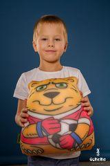 Подушка-игрушка антистресс «Медведь-вратарь» 2