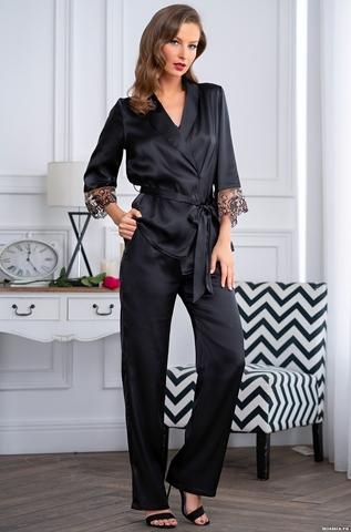 Черная шелковая пижама Mia-Amore Amanda 3635 (70% шелк)