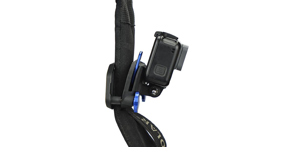Крепление на стропы PolarPro Strap Mount с камерой сбоку