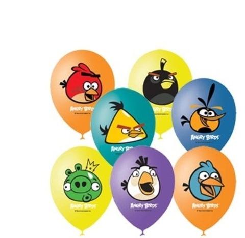 Шар (12''/30 см)«Angry Birds») , Ассорти, пастель