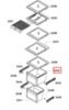 Ящик морозилки для холодильников Bosch (Бош) верхний - 705813