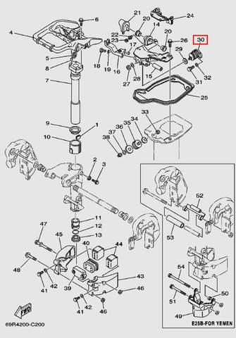 Демпфер верхний, боковой для лодочного мотора Т30 Sea-PRO (15-30)