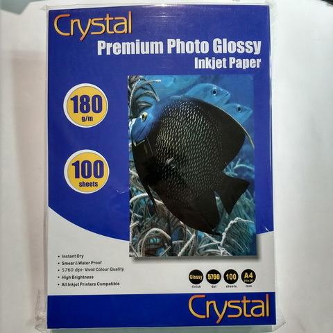 Фотобумага Crystal 180г/м2, A4, 100л. глянец
