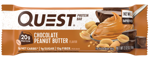 Протеиновые батончики Quest Bar Chocolate Peanut Butter (Шоколад с арахисовым маслом), 1 шт