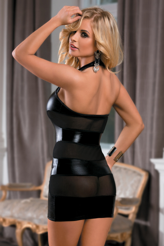 XL Платье Candy Girl Aspen, wetlook, черное