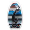 Черный стимулятор простаты с шипованым наконечником - 17,8 см.