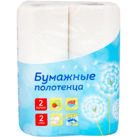 Полотенца бумажные в рулонах OfficeClean, 2-х слойн., 12,5м/рул, белые, 2шт. 1/8