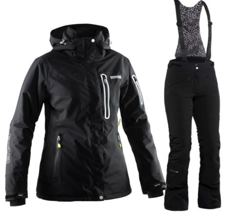Женский горнолыжный костюм  8848 Altitude Aruba/Poppy (black)