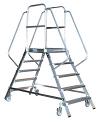 Лестница - платформа двухсторонняя с 6-ю алюм. ступеньками (нов.)