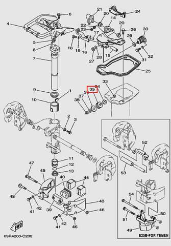 Демпфер верхний, боковой для лодочного мотора Т30 Sea-PRO (15-35)