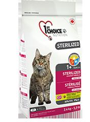 1st Choise Беззерновой корм для стерилизованных кошек и кастрированных котов, 1St Choice Контроль веса, с курицей и бататом croquettesterilise-zoo812ru_177x240.png