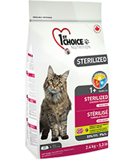 Беззерновой корм для стерилизованных кошек и кастрированных котов, 1St Choice, с курицей и бататом