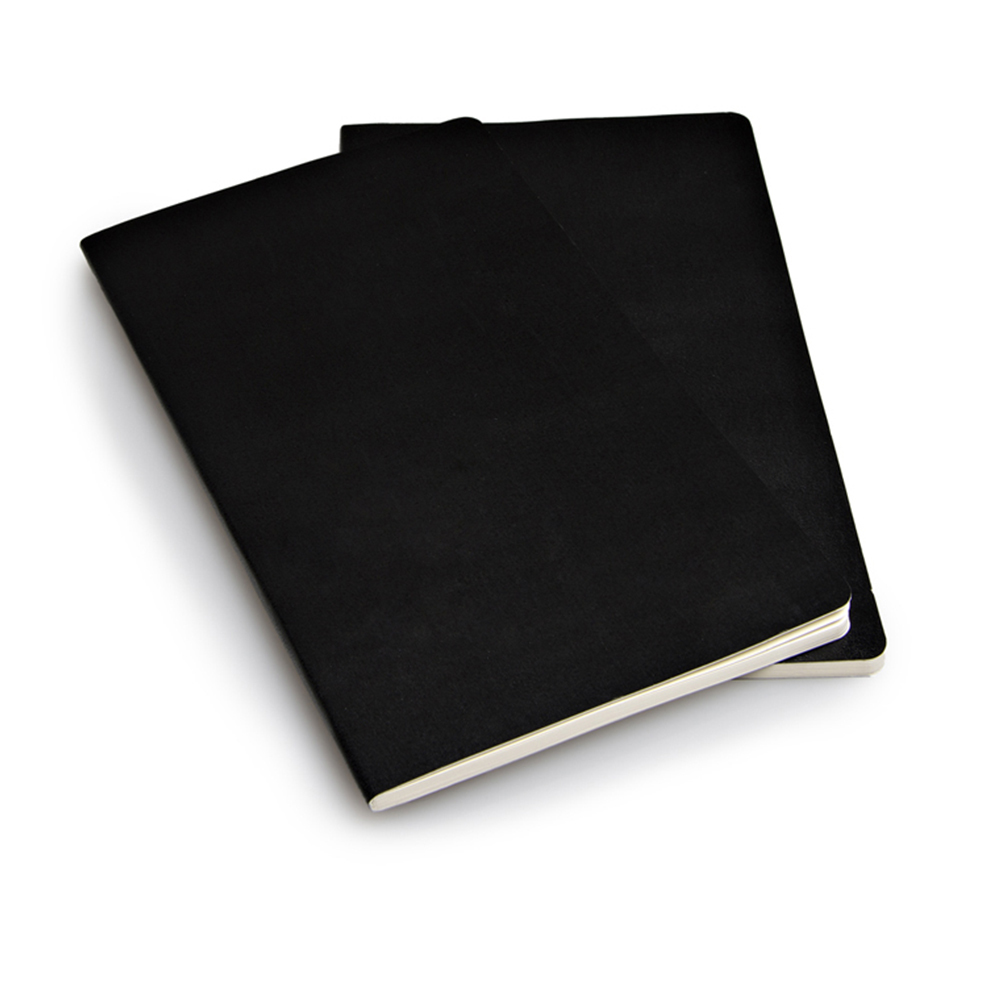 Набор 2 блокнота Moleskine Volant Large, цвет черный, без разлиновки