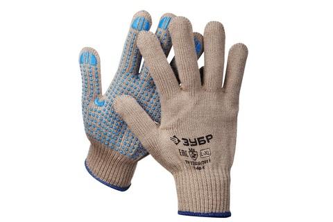 ЗУБР ЕНИСЕЙ, размер L-XL, перчатки утепленные акриловые с ПВХ покрытием (точка).