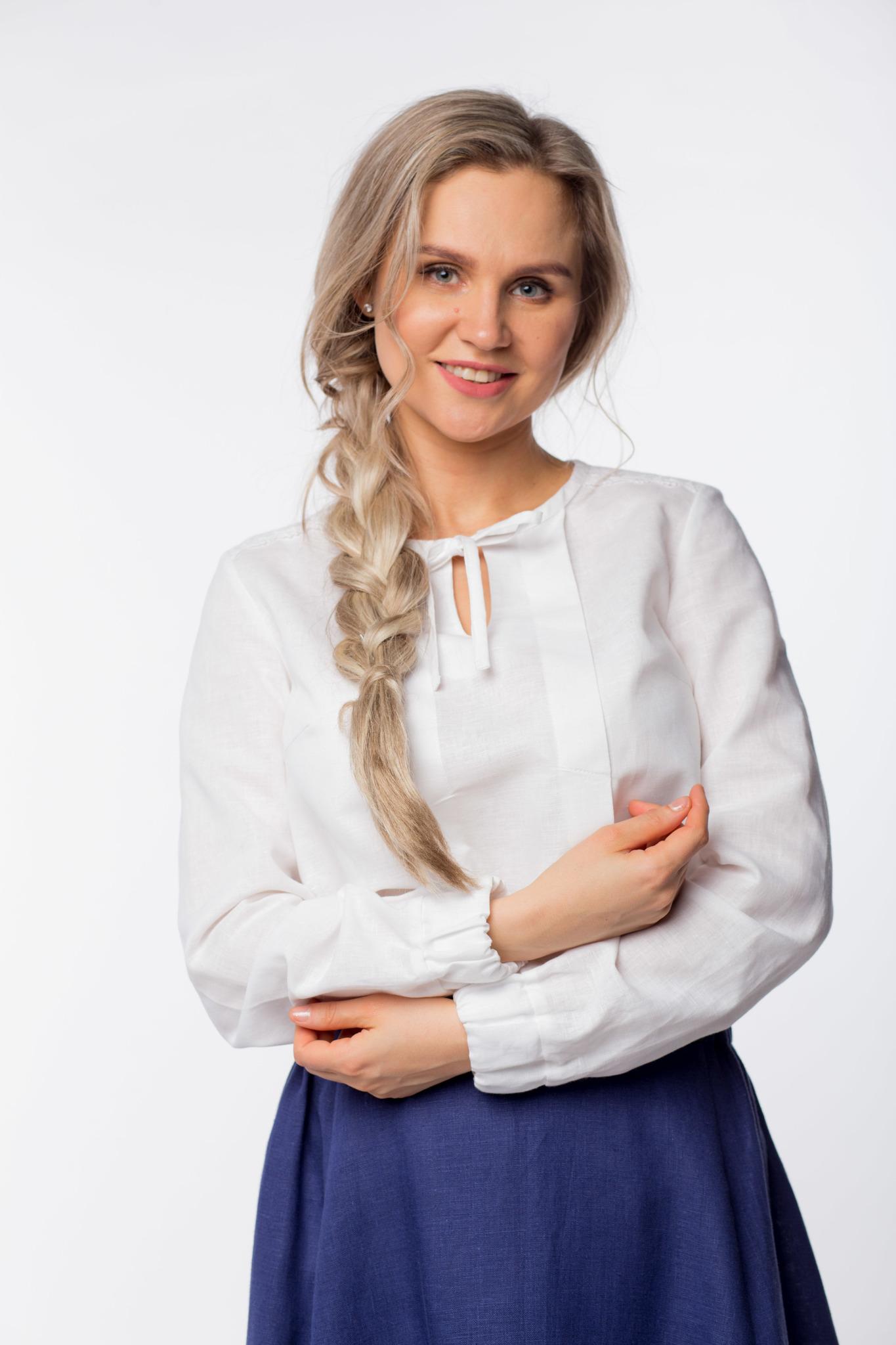 Блуза льняная Самоцветы Хрусталь купить