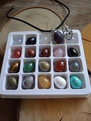 Набор камней в форме яйца 16*22 мм