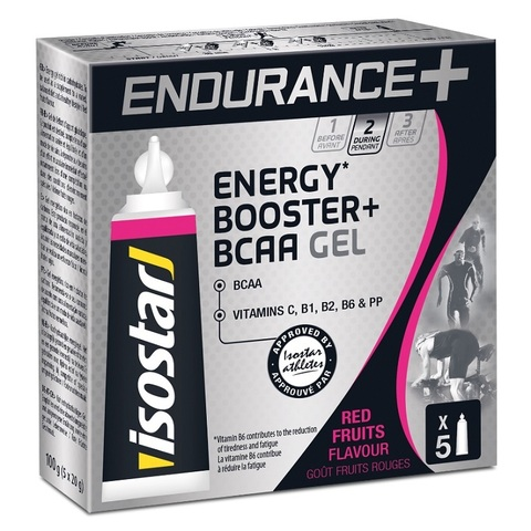 Энергетический гель Isostar Long Distance Energy + BCAA 5 штук по 20 грамм