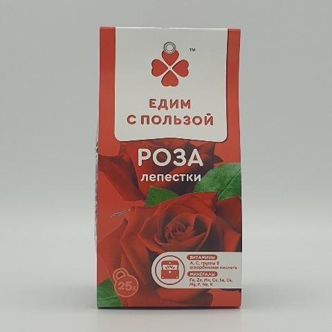 Роза лепестки ЕДИМ С ПОЛЬЗОЙ, 25 гр
