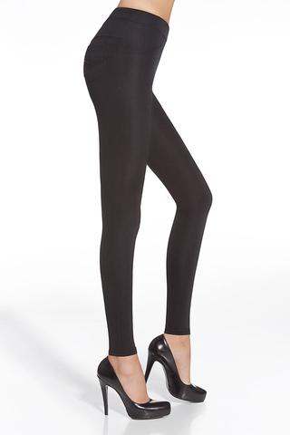 Легинсы фантазийные черные «под джинсы»