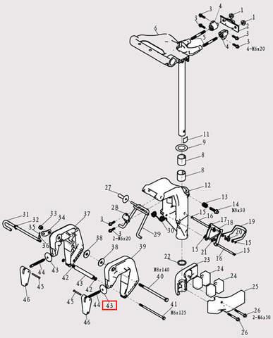 Вал нижний Φ6.5*Φ11*98 для лодочного мотора F9.8 Sea-PRO (13-43)