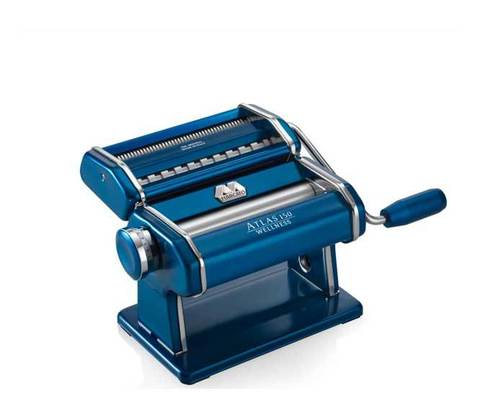 Лапшерезка-тестораскатка Marcato Atlas 150, синий корпус, фото
