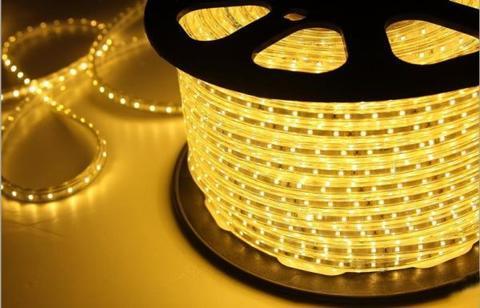Светодиодная лента SMD5050/60, 220V влагозащищенная. Желтая.