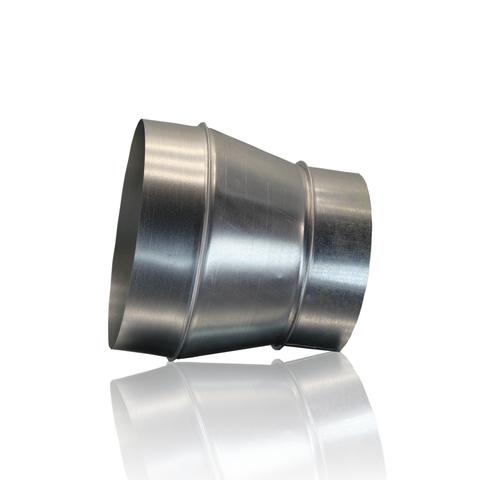Переход 100х125 мм оцинкованная сталь