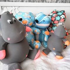 Подушка-игрушка антистресс «Цветочный Мишка» 7