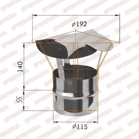 Зонт-К d115мм (430/0,5мм) Ferrum
