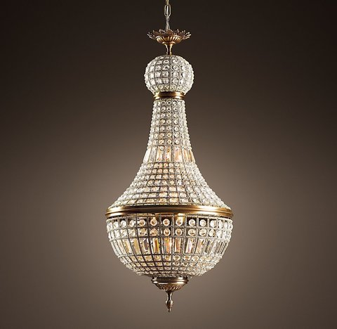 19th C. French Empire Crystal Chandelier 21