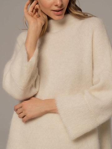 Женский джемпер молочного цвета из шерсти - фото 2
