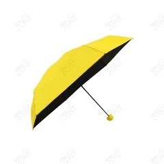 Складной мини зонт капсульный black lemon желто-черный