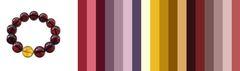 с какой одеждой носить вишнёвый янтарь - примерная цветовая палитра
