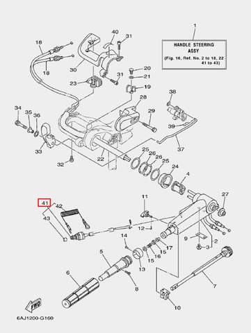 Кнопка останова двигателя в сборе для лодочного мотора F20 Sea-PRO (16-41)