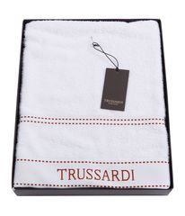Полотенце 100х150 Trussardi Ribbon White