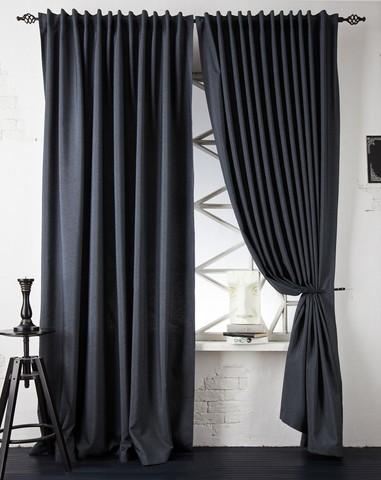 Комплект штор с подхватами Джейн темно-серый
