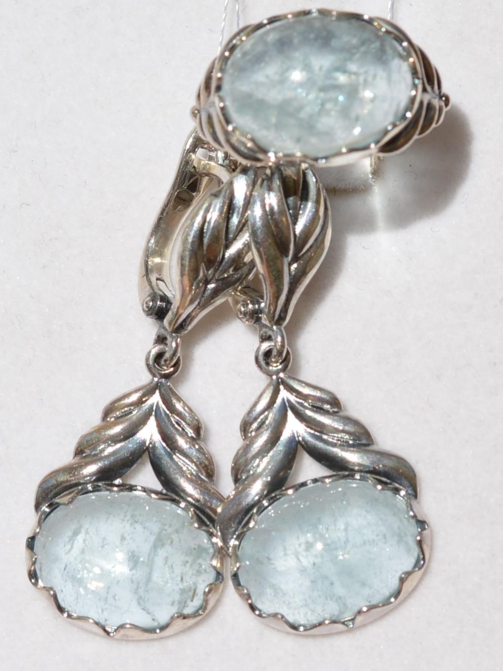 Паула (кольцо + серьги из серебра)