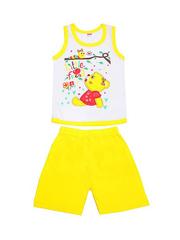 DL054-70-9-24 костюм детский (шорты+майка), желтый